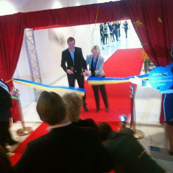 Invigning av nya inrikesdelen på Landvetter flygplats