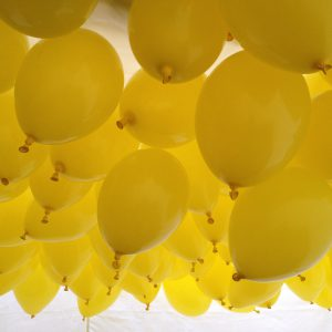 Ballonger redo för ballongsläpp